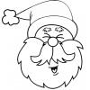 Disegno di Viso di Babbo Natale da colorare