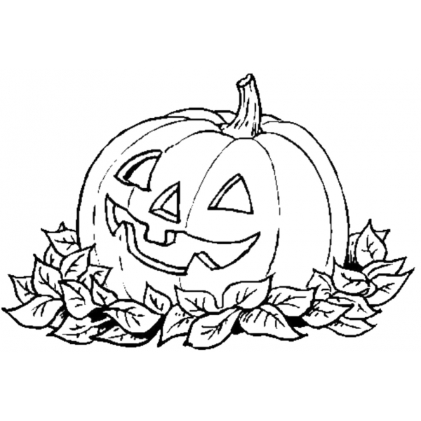 Disegno di la zucca di halloween da colorare per bambini for Disegni di zucche
