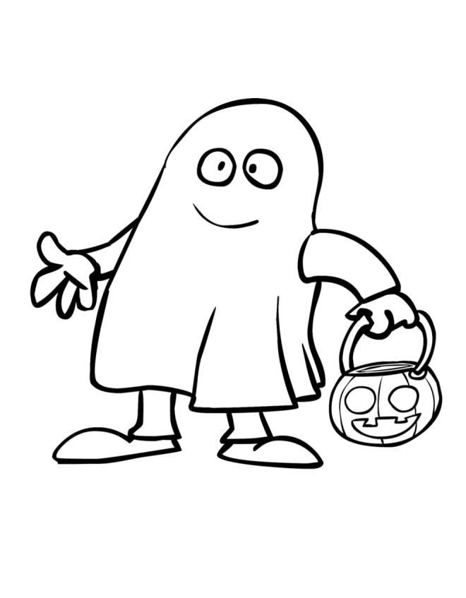 Disegno di Fantasma con la Zucca da colorare per bambini -  disegnidacolorareonline.com 92c9bbe8050a