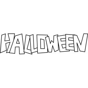 Disegno di scritta di halloween da colorare per bambini Disegni halloween da colorare gratis