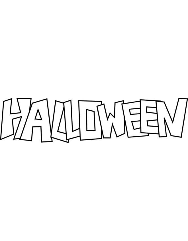 Disegno Di Scritta Di Halloween Da Colorare Per Bambini
