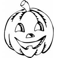disegno di Zucca di Halloween da colorare
