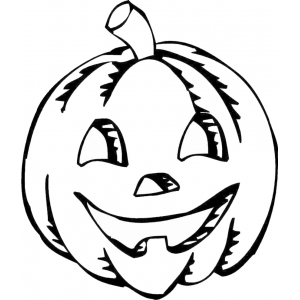 Disegno di zucca di halloween da colorare per bambini for Immagini zucca di halloween