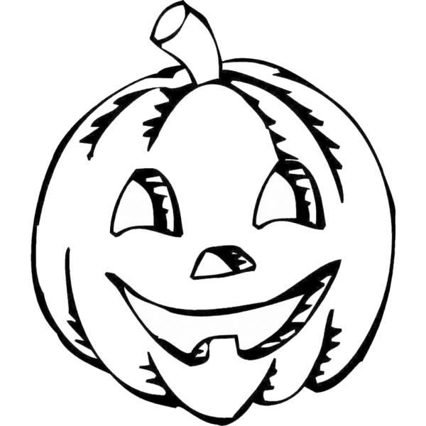 Disegno Di Zucca Di Halloween Da Colorare Per Bambini