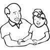 Disegno di Nonno e Nipote da colorare