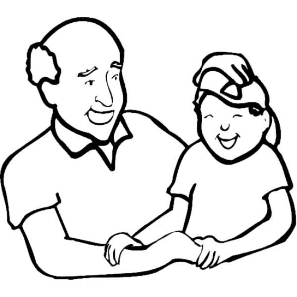 Disegno Di Nonno E Nipote Da Colorare Per Bambini