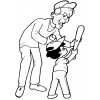Disegno di Nonno e Nipotino da colorare