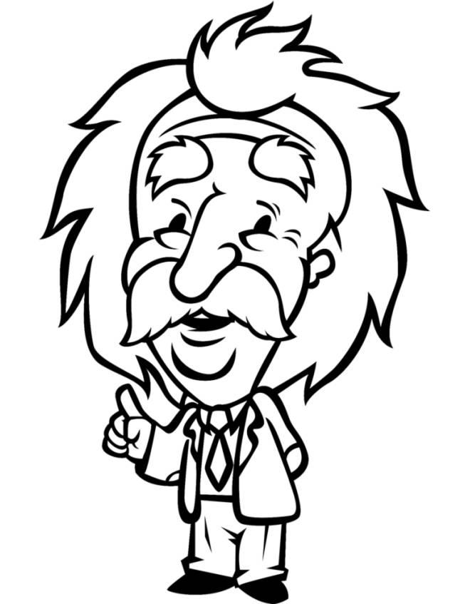 disegno di Il Professore da colorare