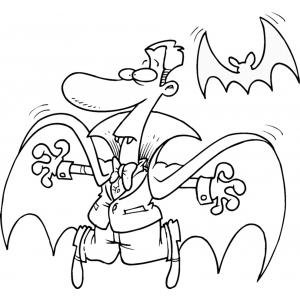 Disegno di Vampiro e Pipistrello da colorare
