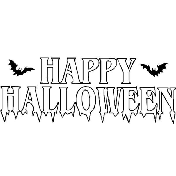 Disegno Di Scritta Happy Halloween Da Colorare Per Bambini
