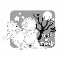 Disegno di Winnie Pooh Halloween da colorare