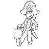 Disegno di Il Bambino Pirata da colorare