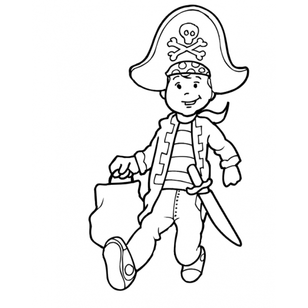 Disegno Di Il Bambino Pirata Da Colorare Per Bambini