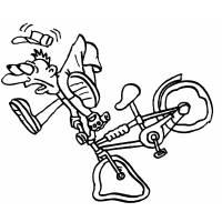 Disegno di Caduta in Bicicletta da colorare