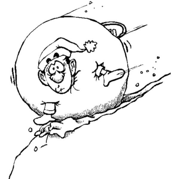 Disegno di Palla di Neve da colorare