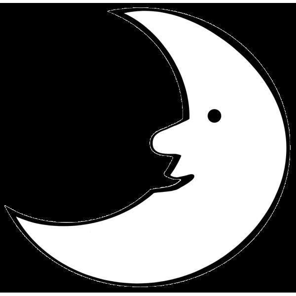 Disegno di La Luna da colorare