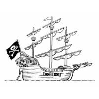 Disegno di La Nave Pirata da colorare