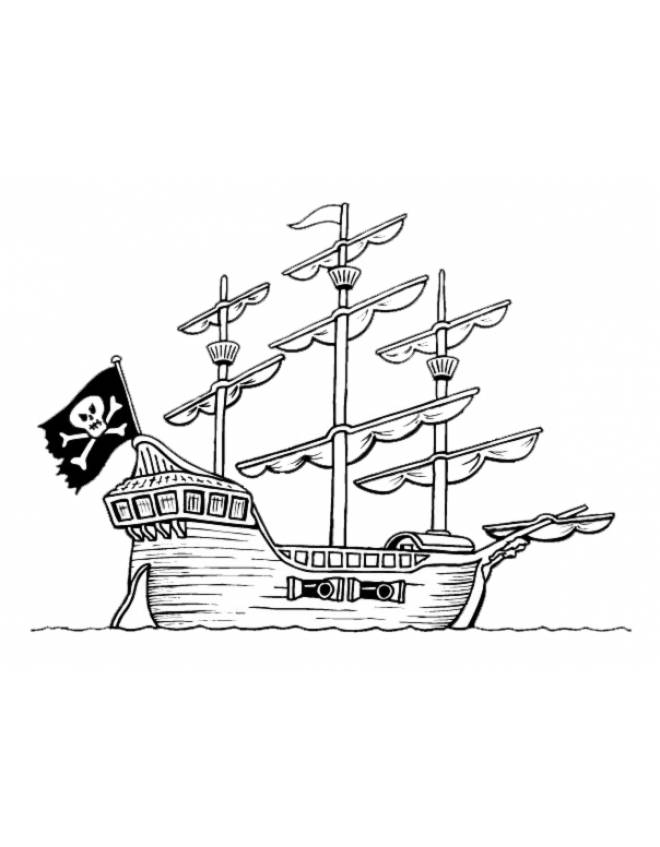 Disegno Di La Nave Pirata Da Colorare Per Bambini Disegnidacolorareonline Com