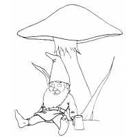 disegno di Lo Gnomo e il Fungo da colorare
