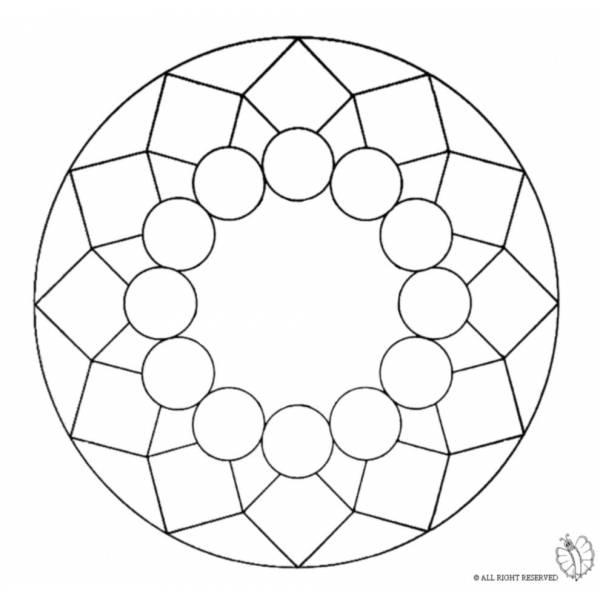 Disegno di Mandala 8 da colorare