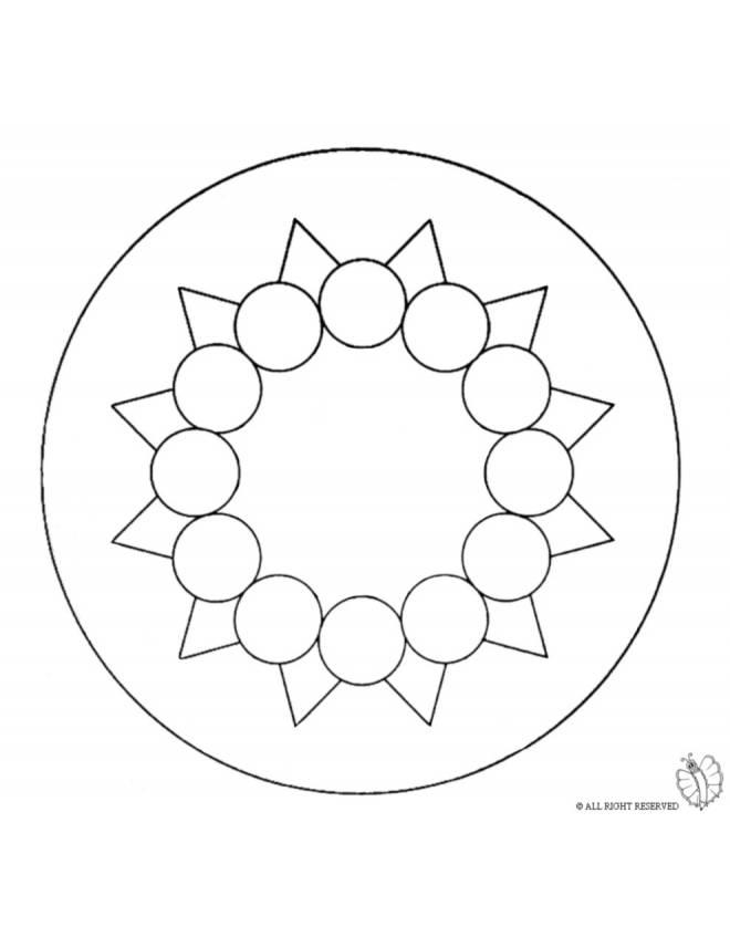 Disegno di mandala 9 da colorare per bambini for Disegni di mandala semplici