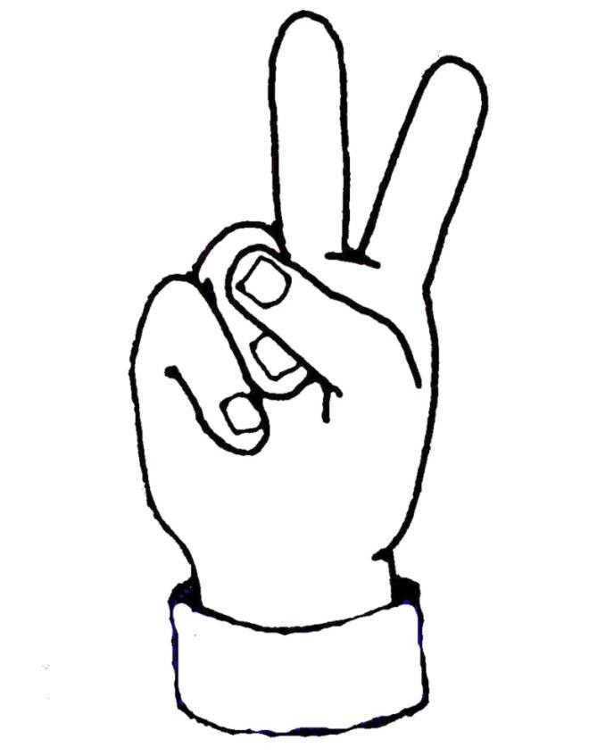 Cornicetta con mani da colorare tuttodisegni com for Disegni da copiare a mano facili