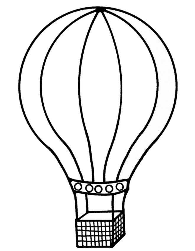 disegno di La Mongolfiera  da colorare