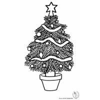 Disegno di Albero di Natale Decorato da colorare