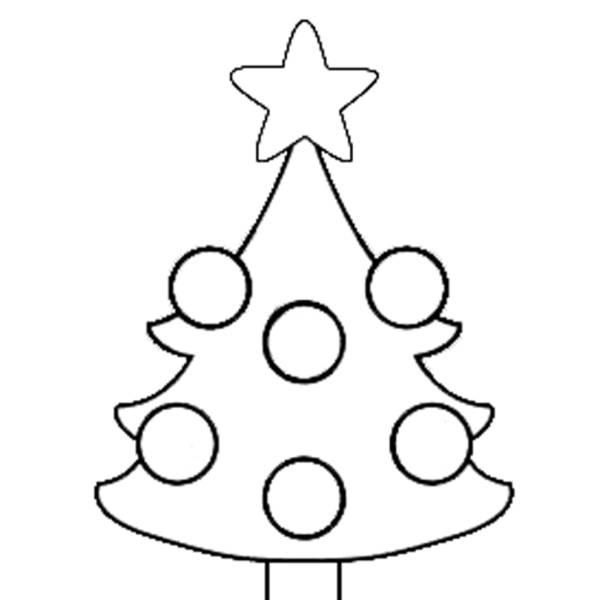 Disegno Di Albero Di Natale Da Colorare Per Bambini