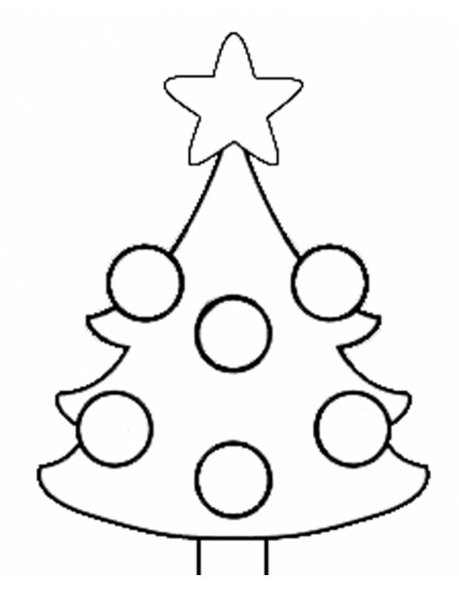 Disegno di albero di natale da colorare per bambini for Disegni facili di natale
