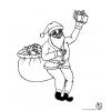 Disegno di Babbo Natale che Consegna Regali da colorare