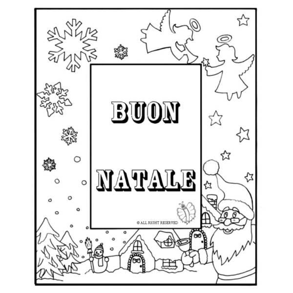 Disegno di Cornice Buon Natale da colorare