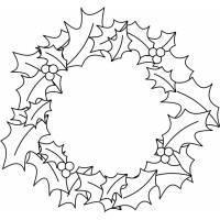disegno di Corona Natalizia da colorare
