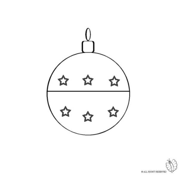Disegno di Decorazioni per Natale da colorare