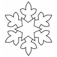 Disegno di Fiocco di Neve da colorare