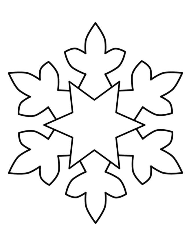 Preferenza Disegno di Fiocco di Neve da colorare per bambini  GP59