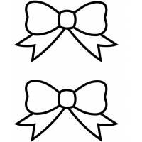 disegno di Fiocchi di Natale da colorare