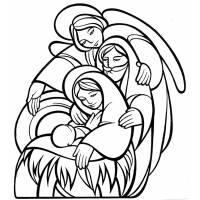 Disegno di La Sacra Famiglia da colorare