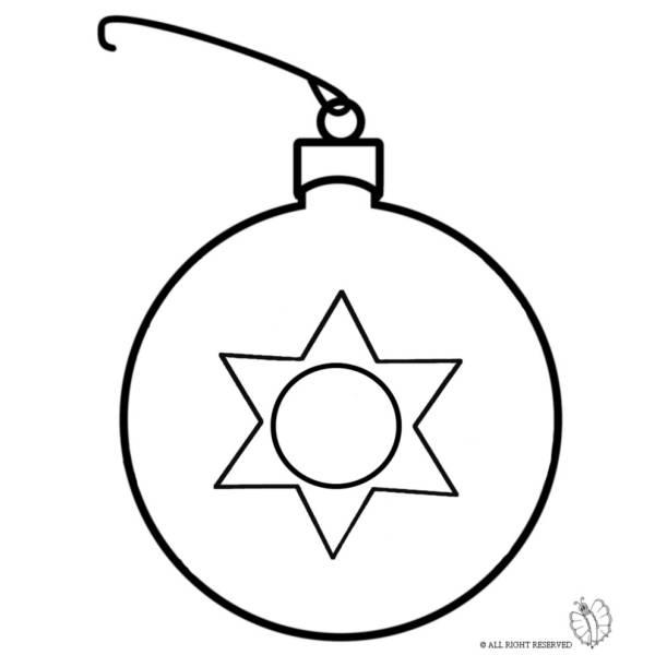 Disegni Di Palline Di Natale.Disegno Di Pallina Di Natale Da Colorare Per Bambini
