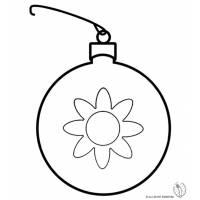 Disegno di Pallina di Natale con Fiore da colorare