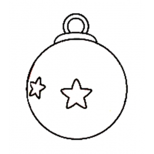 Disegno di Pallina di Natale da colorare