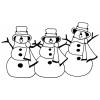 disegno di Pupazzi di Neve da colorare