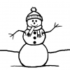 Disegno di Il Pupazzzo di Neve da colorare