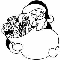 Disegno di Sacco di Babbo Natale da colorare