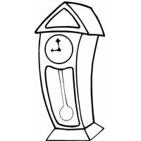 Disegno di Orologio a Pendolo da colorare