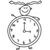 disegno di Orologio da colorare
