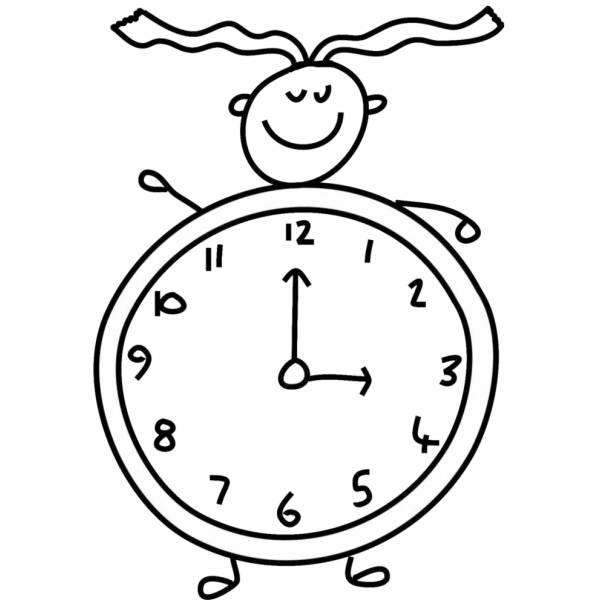 disegno orologio da colorare