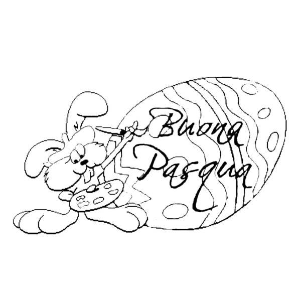 Disegno di Uovo Buona Pasqua da colorare