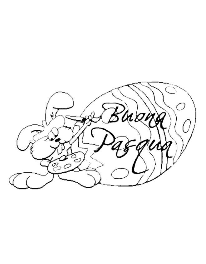 Stampa Disegno Di Uovo Buona Pasqua Da Colorare