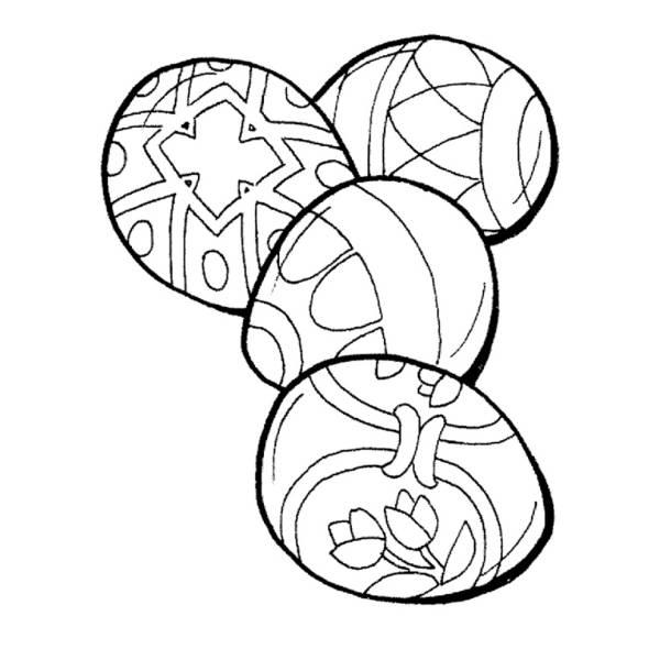 Disegno di Uova da Dipingere da colorare